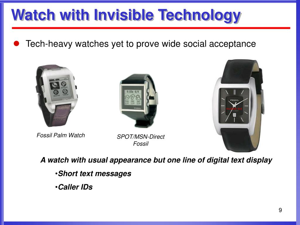 Watch with Invisible Technology