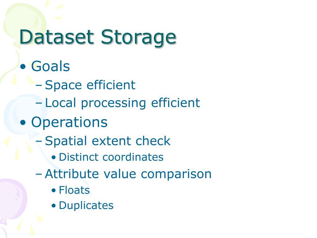 Dataset Storage