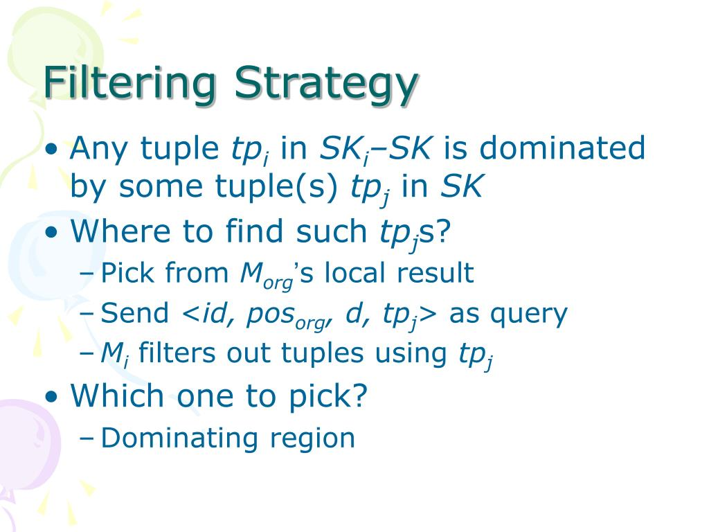 Filtering Strategy