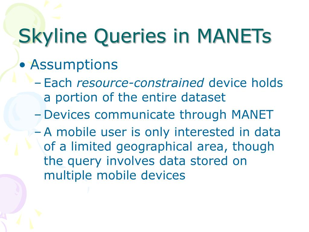 Skyline Queries in MANETs