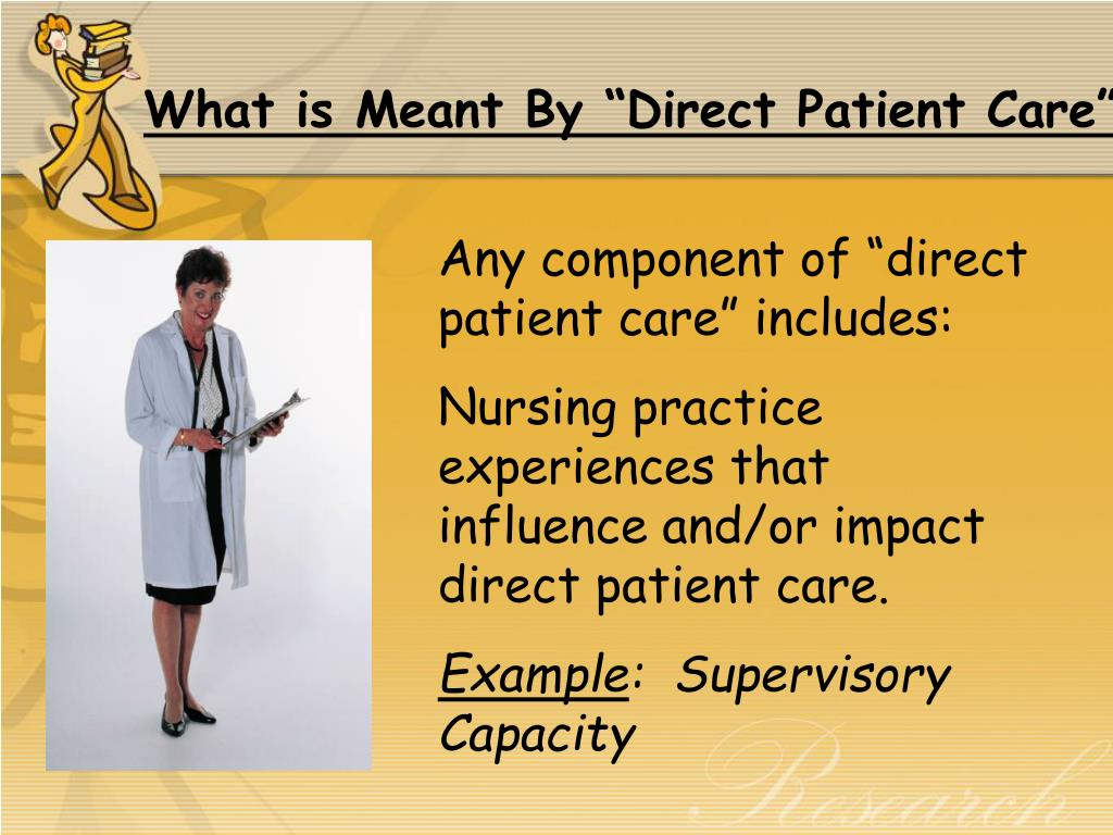 "What is Meant By ""Direct Patient Care"""