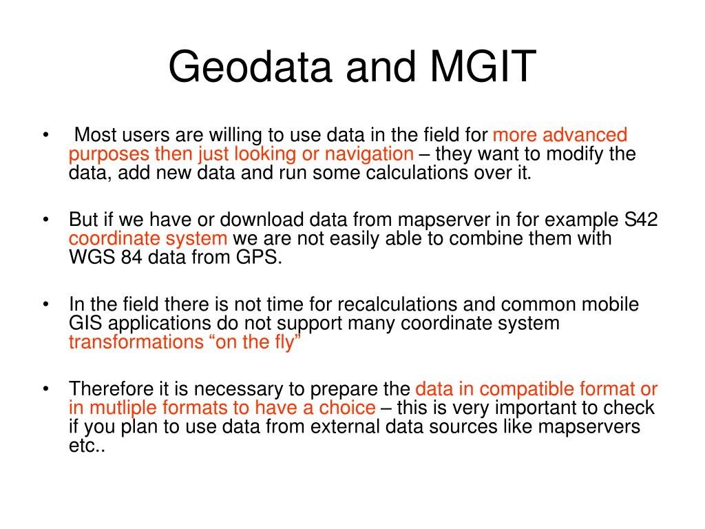 Geodata and