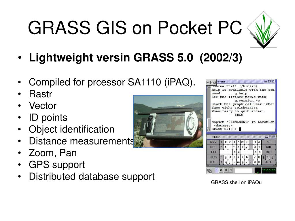 GRASS GIS on Pocket PC