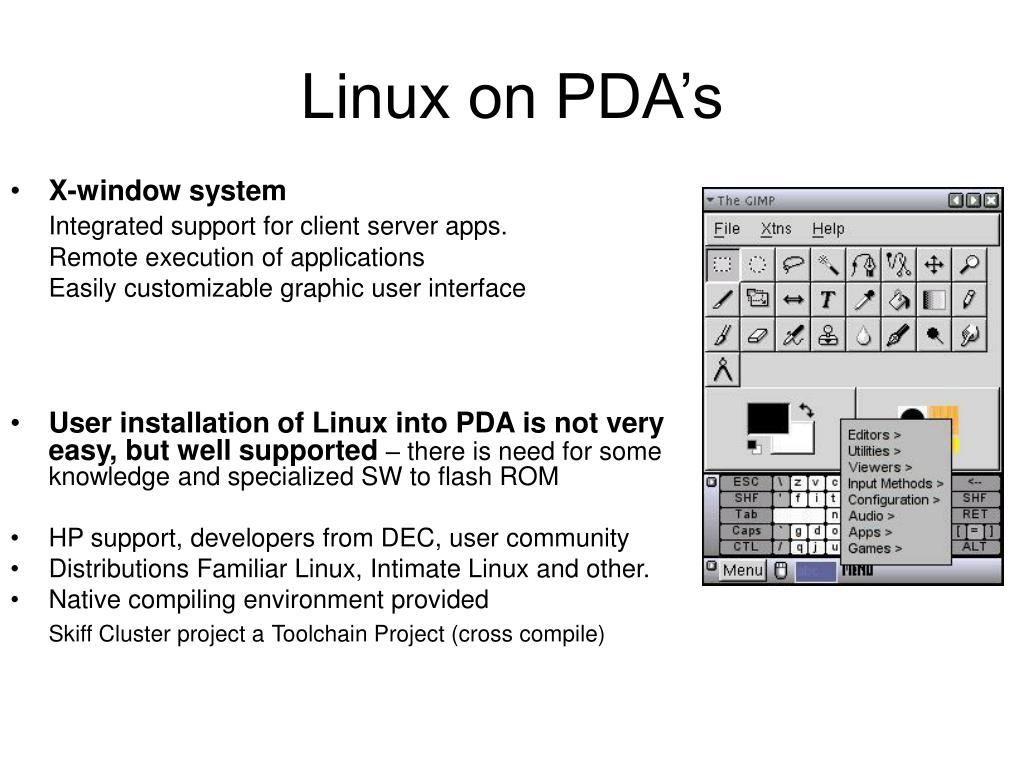 Linux on PDA's