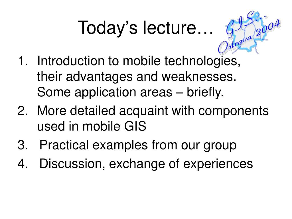 Today's lecture…