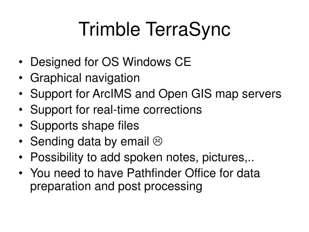 Trimble TerraSync
