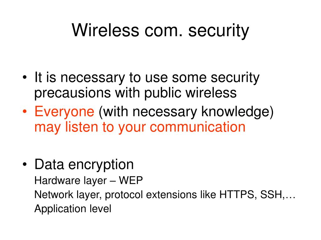 Wireless com. security