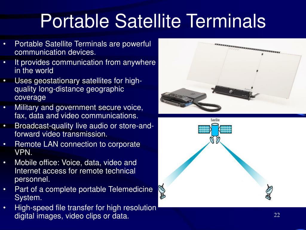 Portable Satellite Terminals