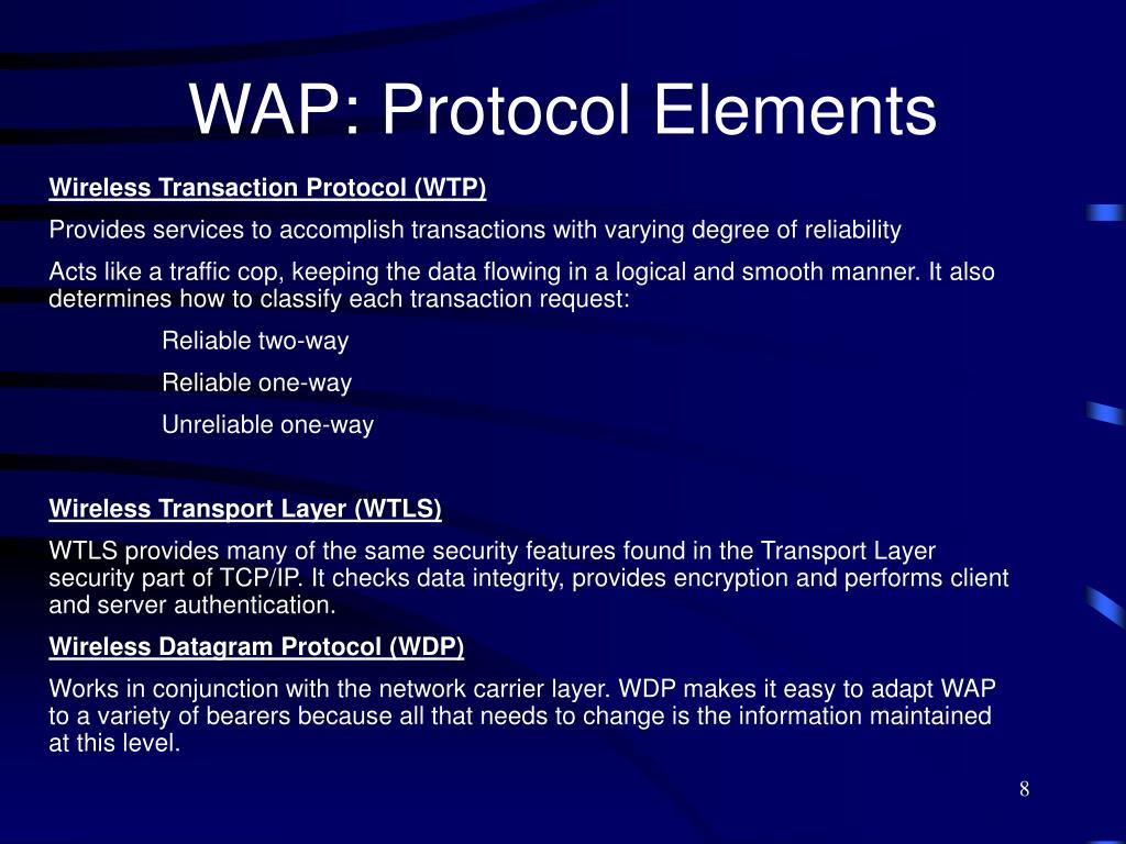 WAP: Protocol Elements