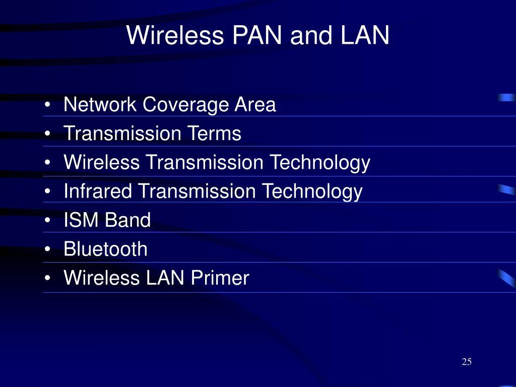Wireless PAN and LAN