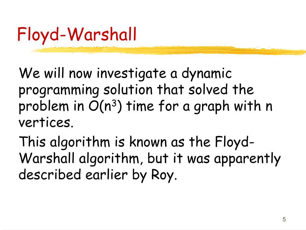 Floyd-Warshall