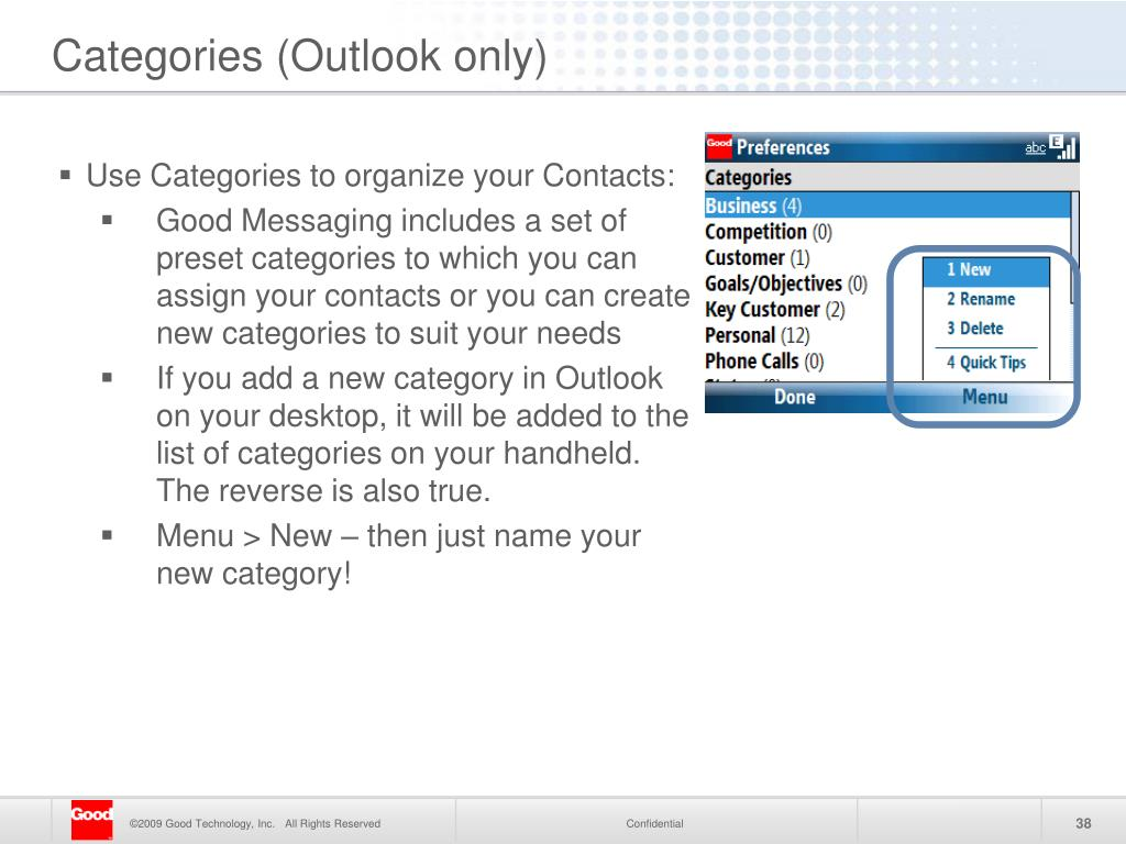 Use Categories to organize your Contacts: