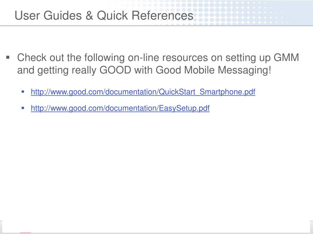 User Guides & Quick References