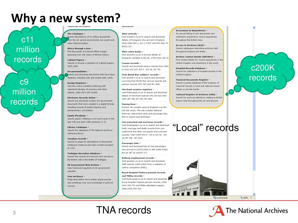 Why a new system?