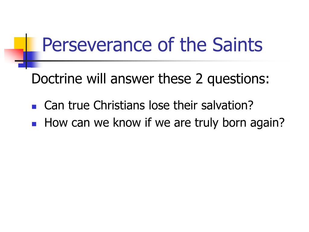 Perseverance of the Saints