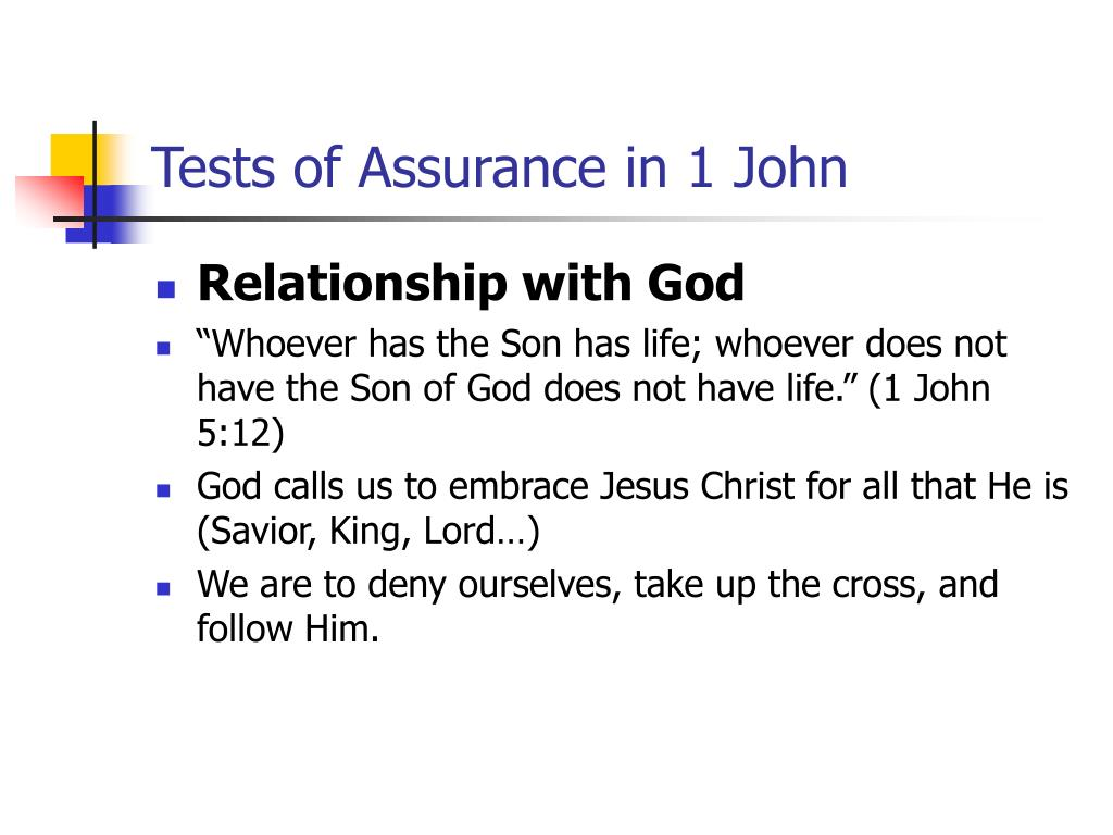 Tests of Assurance in 1 John