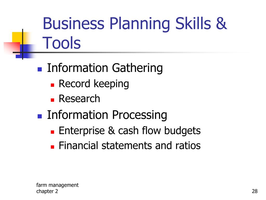 Business Planning Skills & Tools