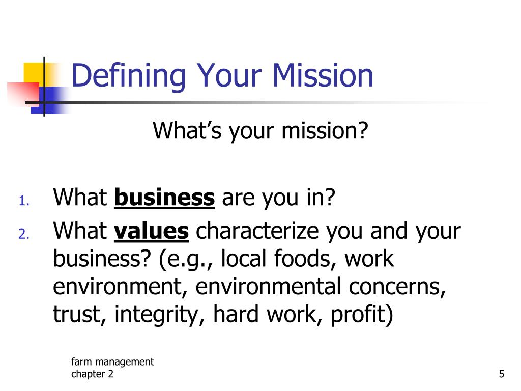 Defining Your Mission