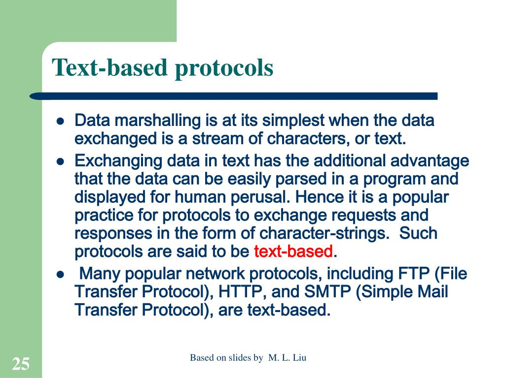 Text-based protocols
