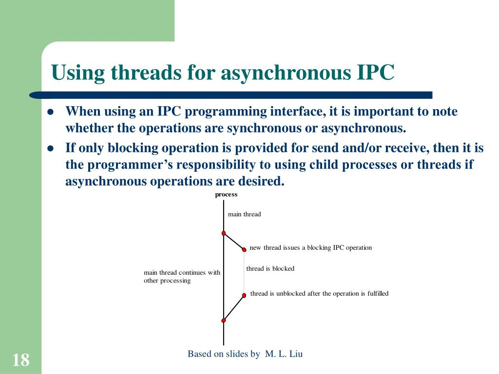 Using threads for asynchronous IPC