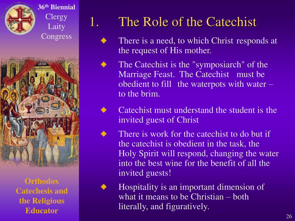 1.The Role of the Catechist