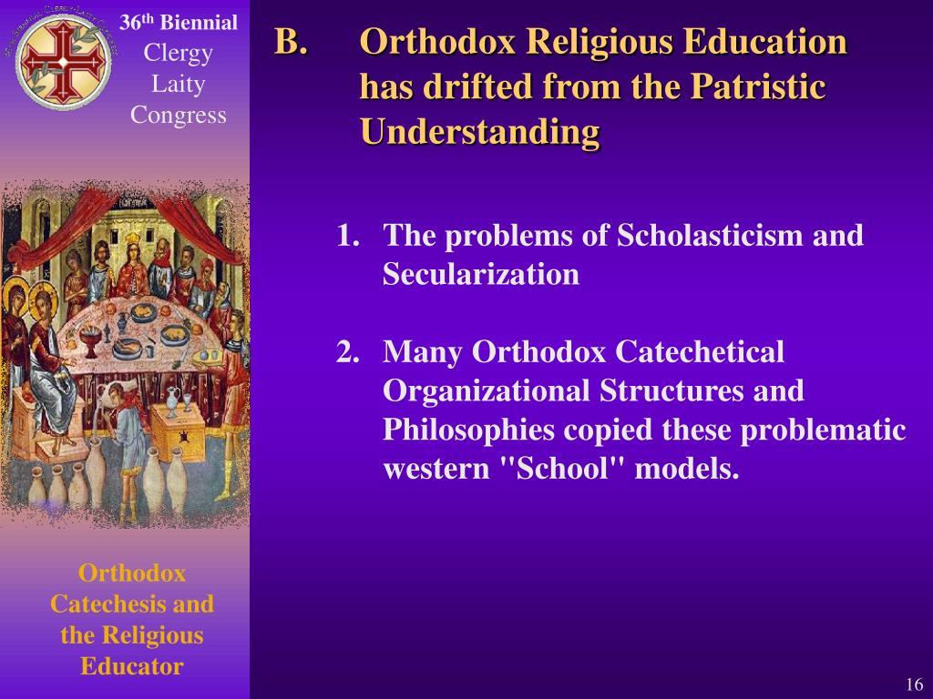 Orthodox Religious Education