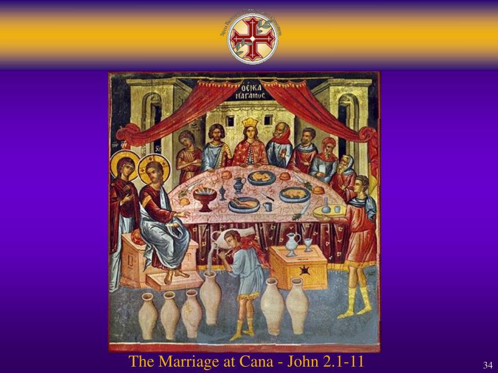 The Marriage at Cana - John 2.1-11