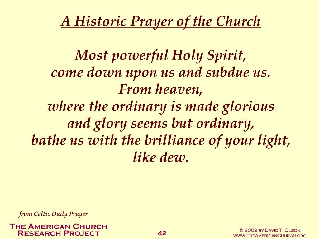 A Historic Prayer of the Church