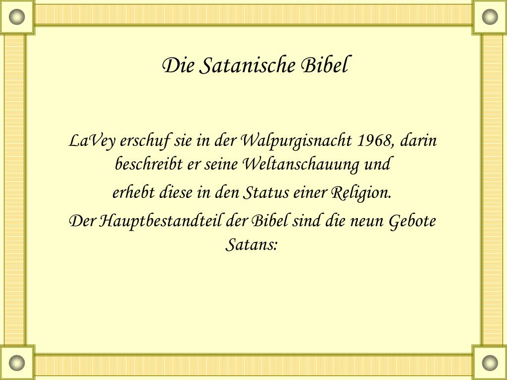 Satan In Der Bibel
