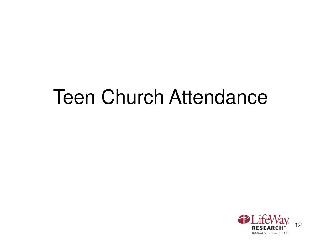 Teen Church Attendance