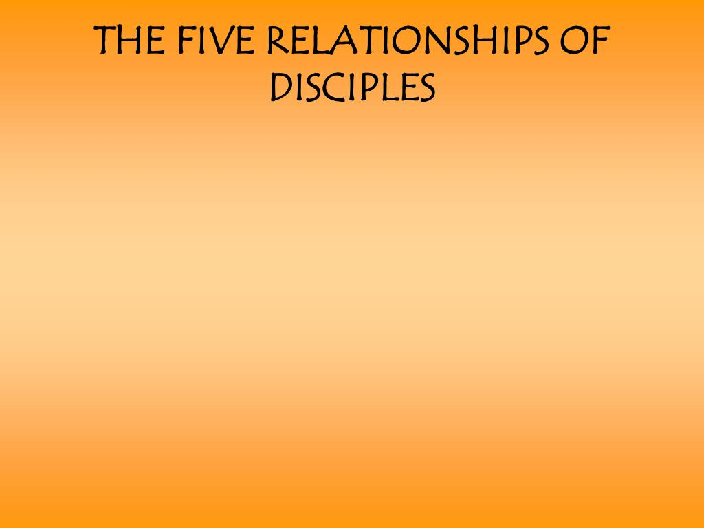 THE FIVE RELATIONSHIPS OF DISCIPLES