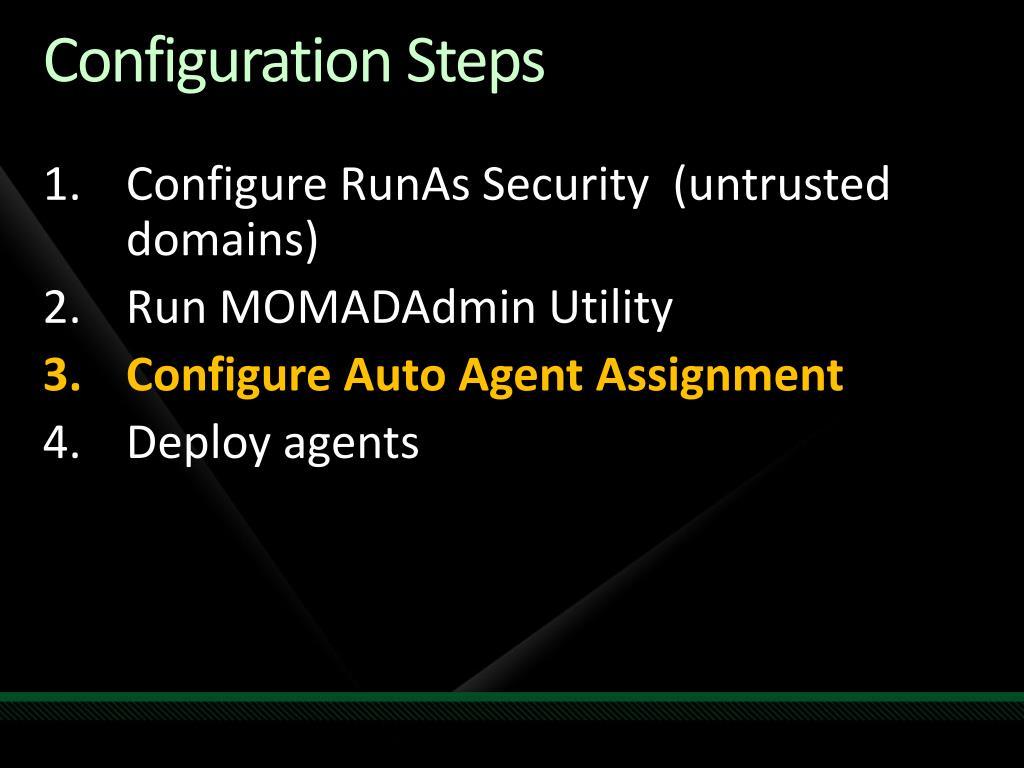 Configuration Steps