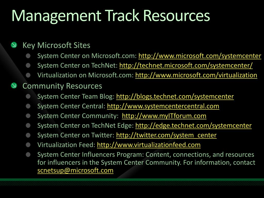 Management Track Resources