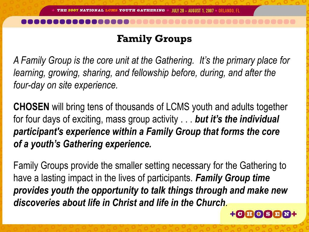 Family Groups