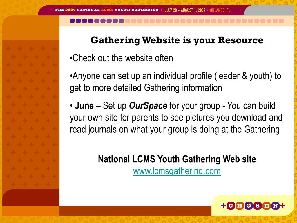 Gathering Website is your Resource