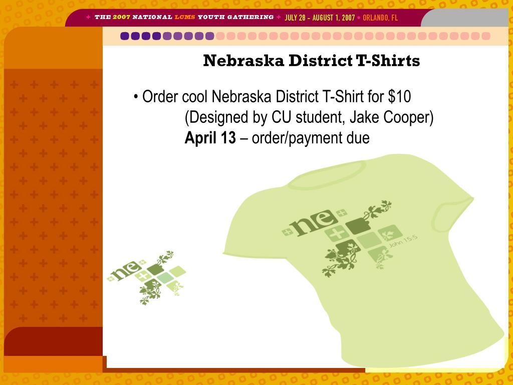Nebraska District T-Shirts