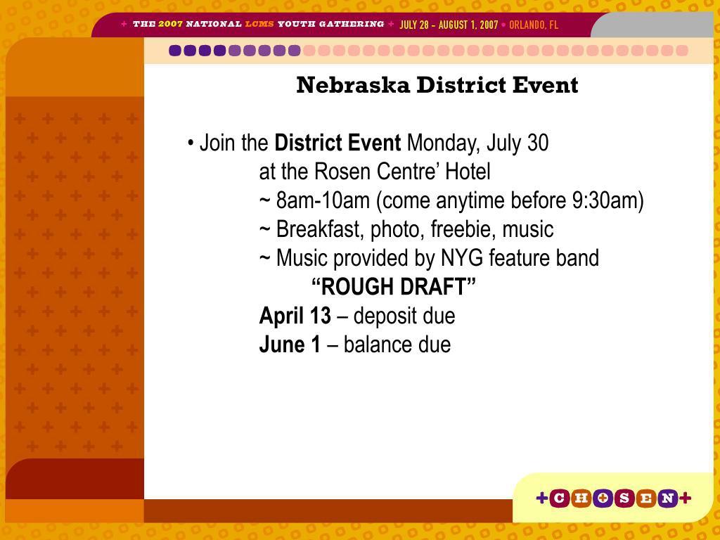 Nebraska District Event