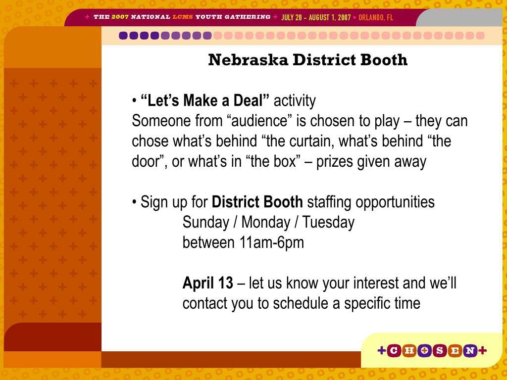 Nebraska District Booth