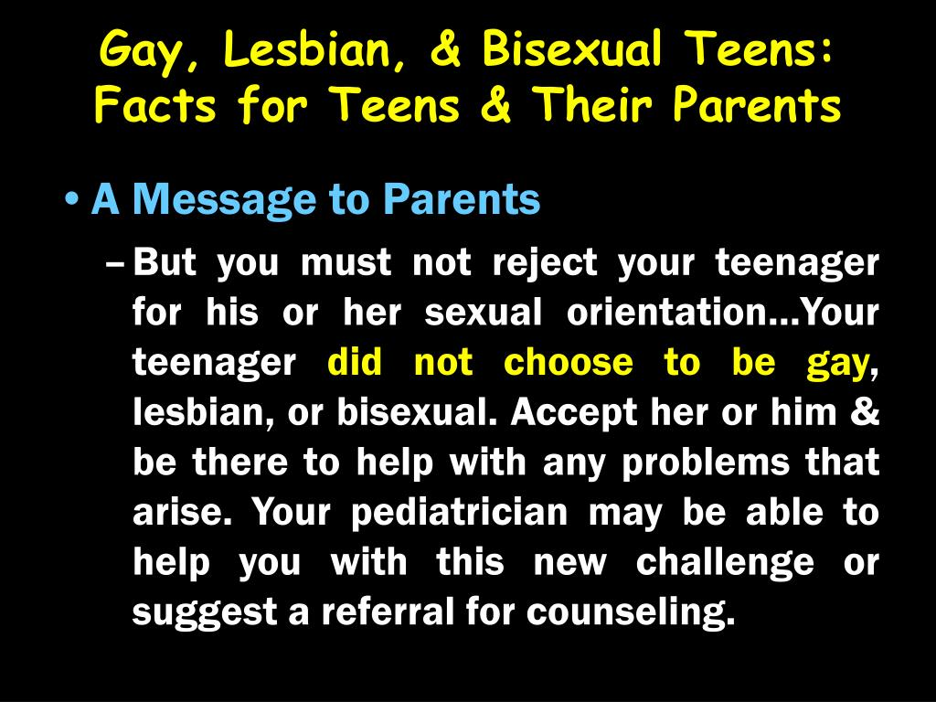 Gay, Lesbian, & Bisexual Teens: Facts for Teens & Their Parents