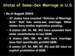 status of same sex marriage in u s12