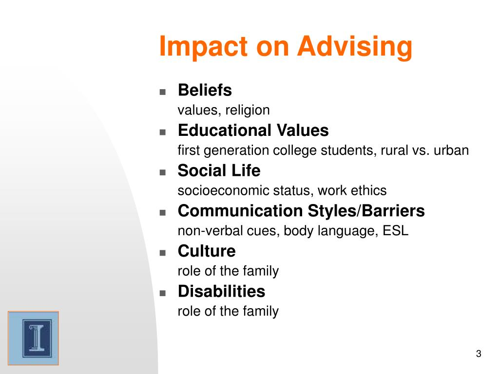 Impact on Advising