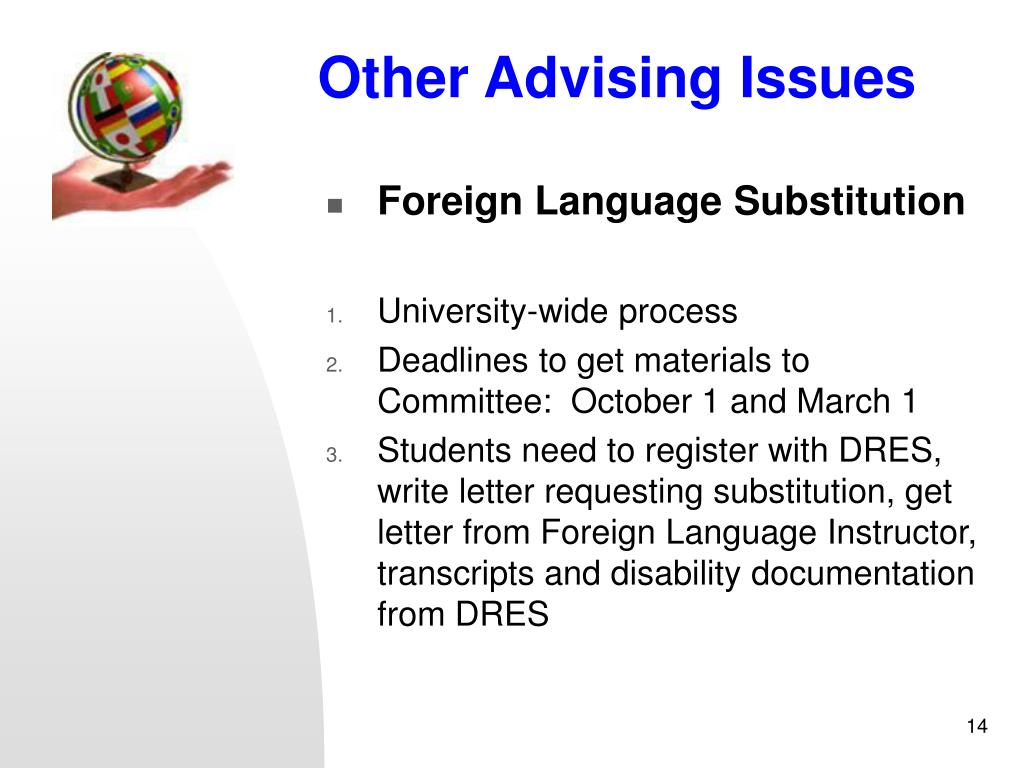 Other Advising Issues