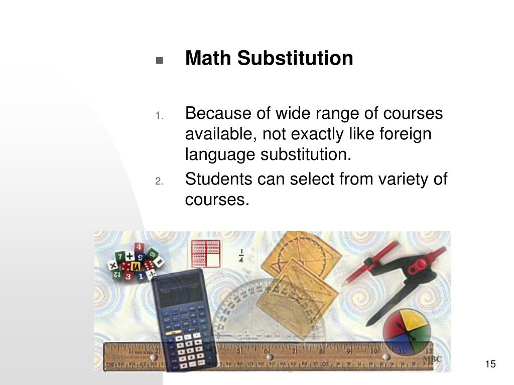 Math Substitution