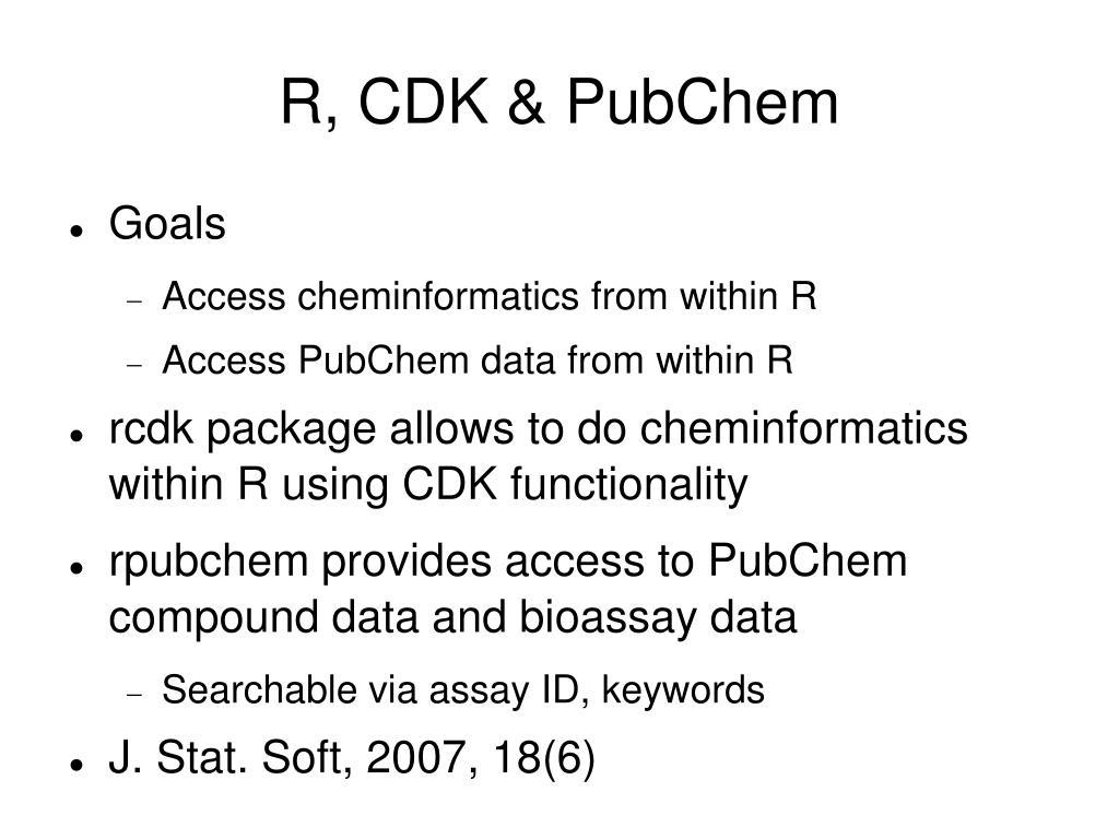 R, CDK & PubChem