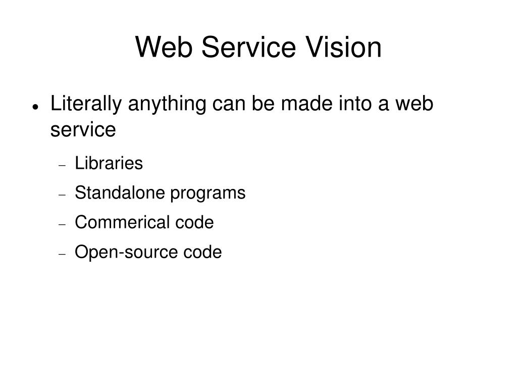Web Service Vision