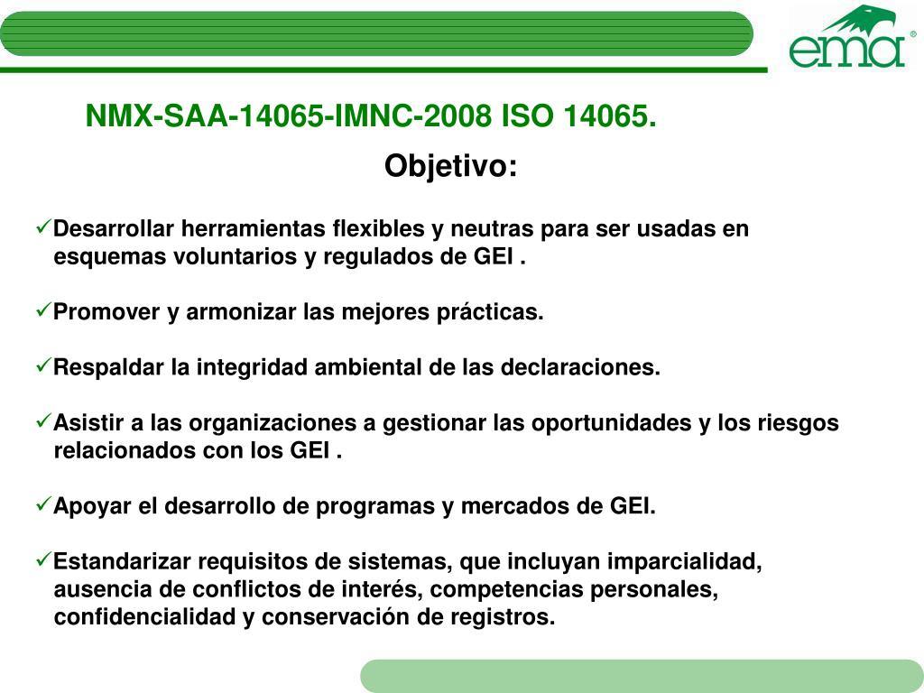 NMX-SAA-14065-IMNC-2008 ISO 14065.