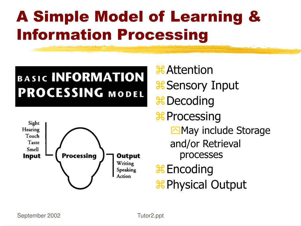 A Simple Model of Learning & Information Processing