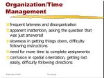 organization time management