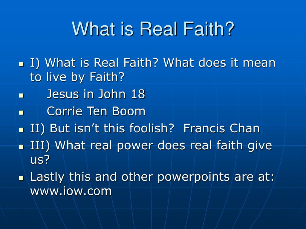 What is Real Faith?