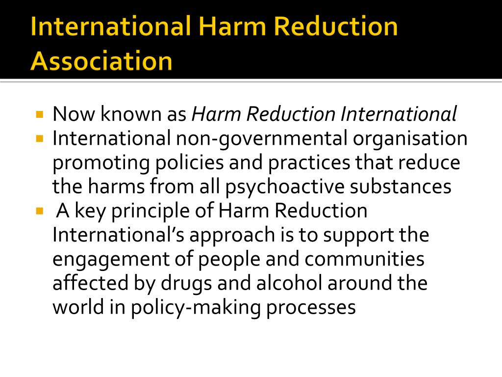 International Harm Reduction Association